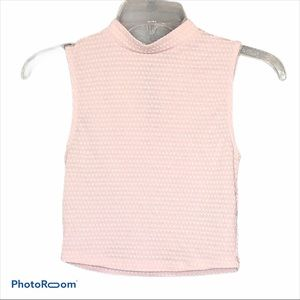 Divided sleeveless cropped mock neck top H&M